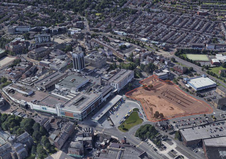 Former Market Site - Aerial